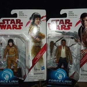 Star Wars- Force Link Set Of 2 Action Figures- NIB